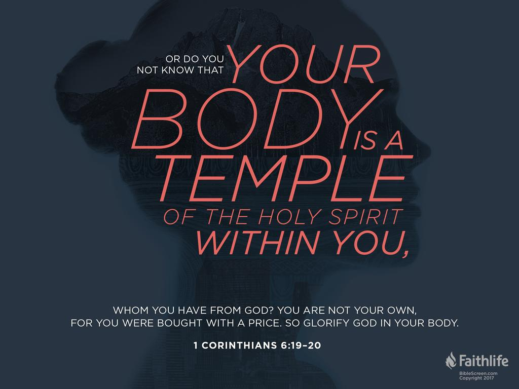 Image result for 1 Corinthians 6:19-20