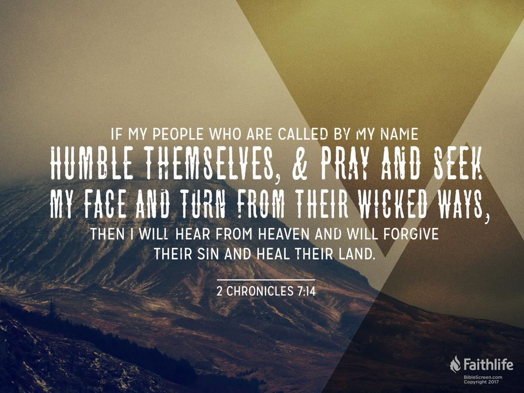 2 Chronicles 7:14 ESV - if my people who are… | Biblia