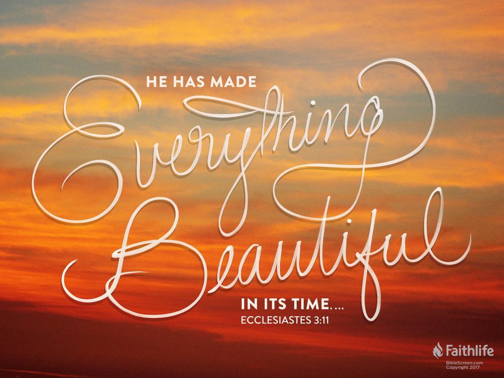 Super Ecclesiastes 3:1–11 VE95