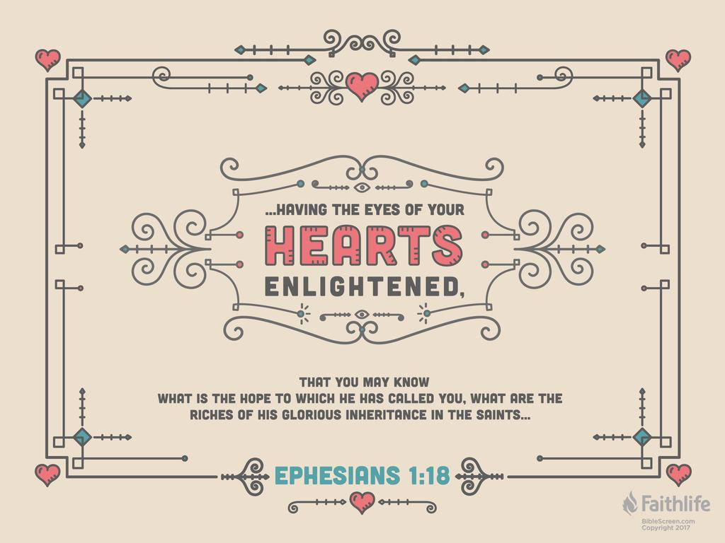 verse of the day: ephesians 1:18