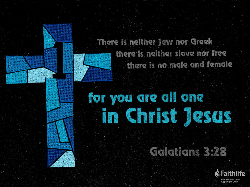 Galatians 3:28 ESV - There is neither Jew nor… | Biblia