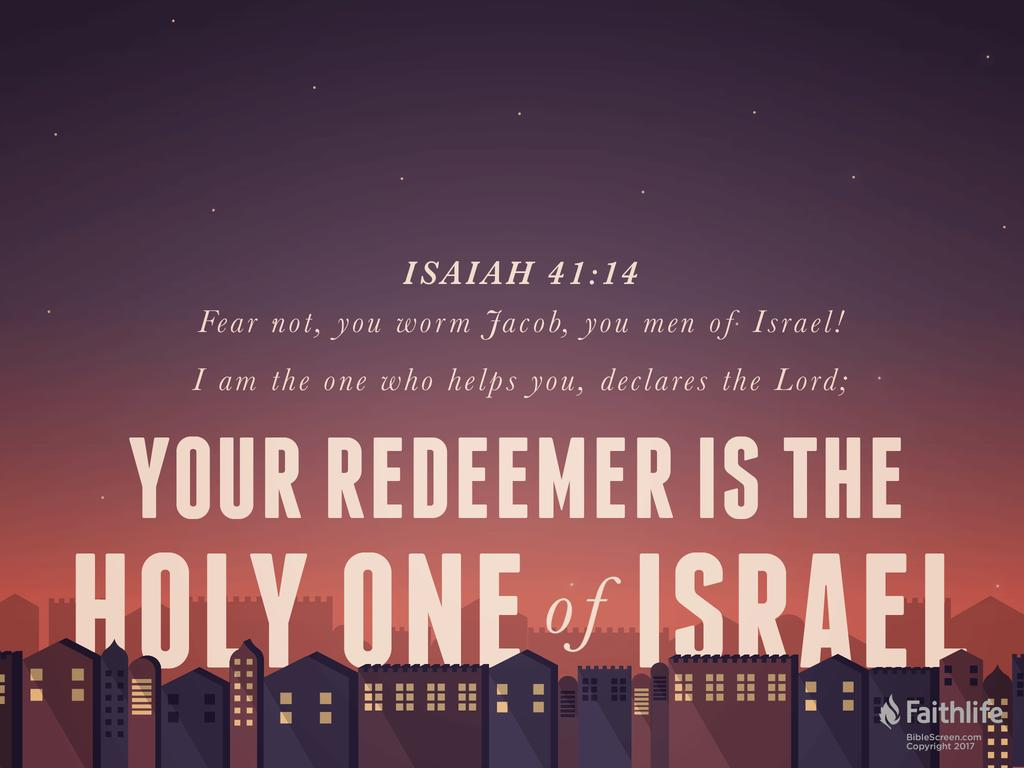 Image result for Isaiah 41:14-16