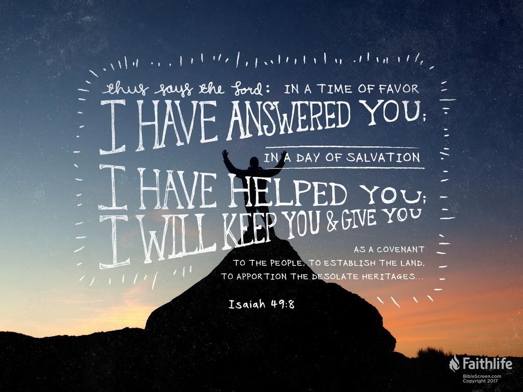 Image result for Isaiah 49:7-8 KJV