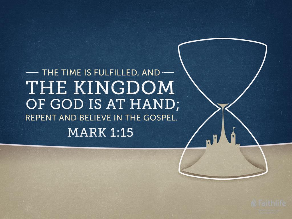 """Mark 1:15 NLT - """"The time promised by God has… 