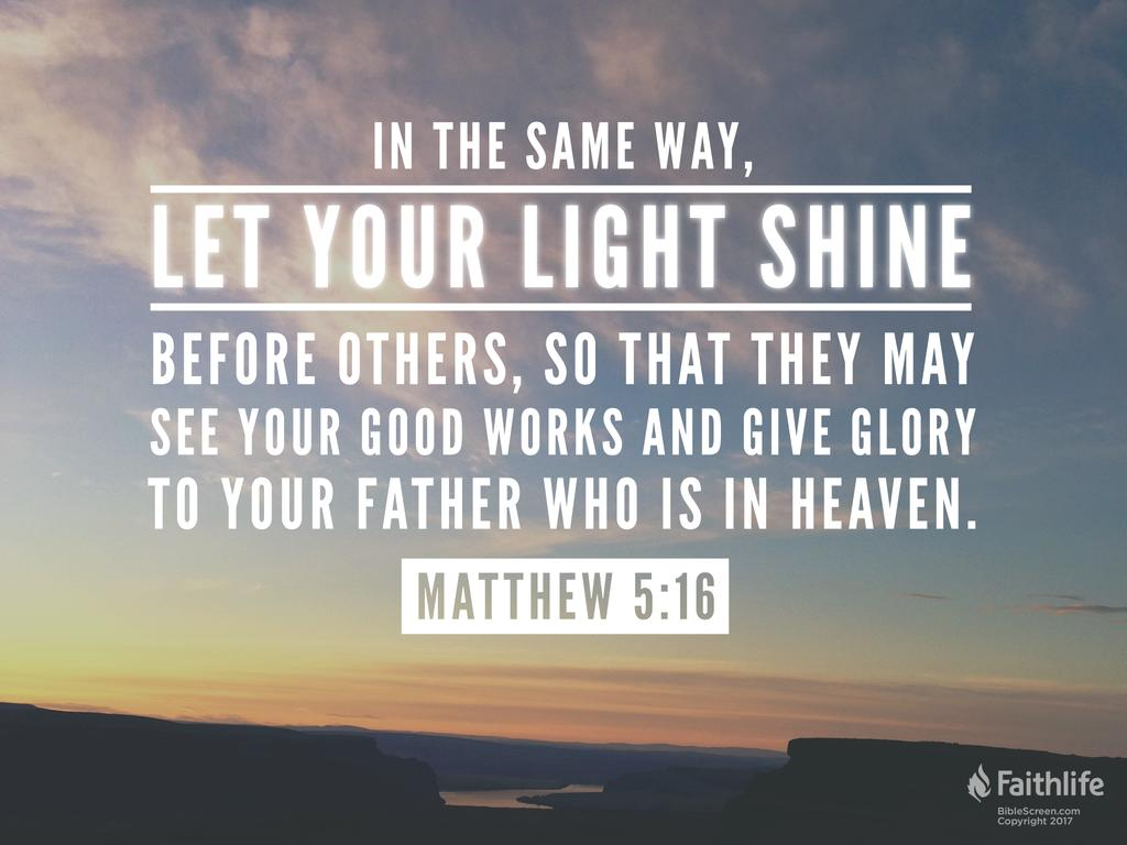 Image result for shine your light scripture