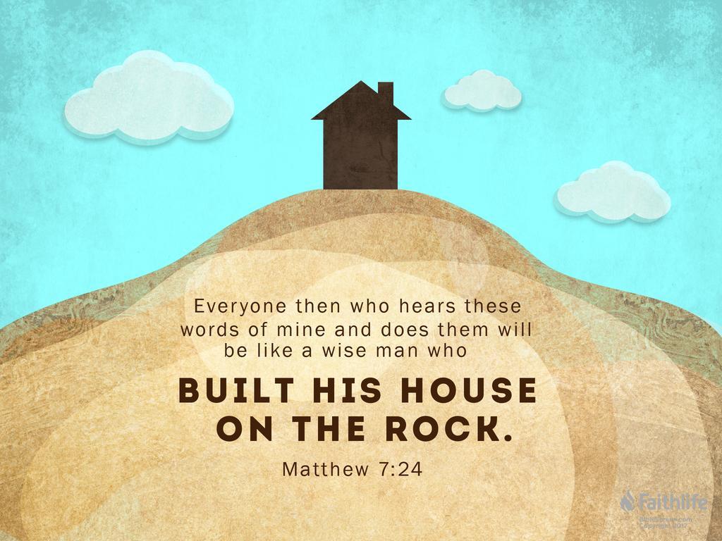 "Matthew 7:24–27 NIV - ""Therefore everyone who… | Biblia"