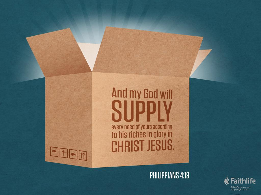 Verse of the Day: Philippians 4:19