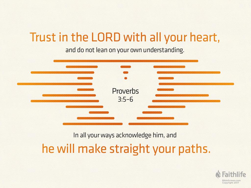 Verse of the Day: Proverbs 3:5-6