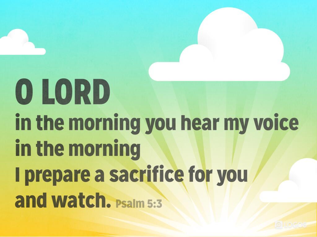 Psalm 5:1–12 ESV - Give ear to my words, O… | Biblia