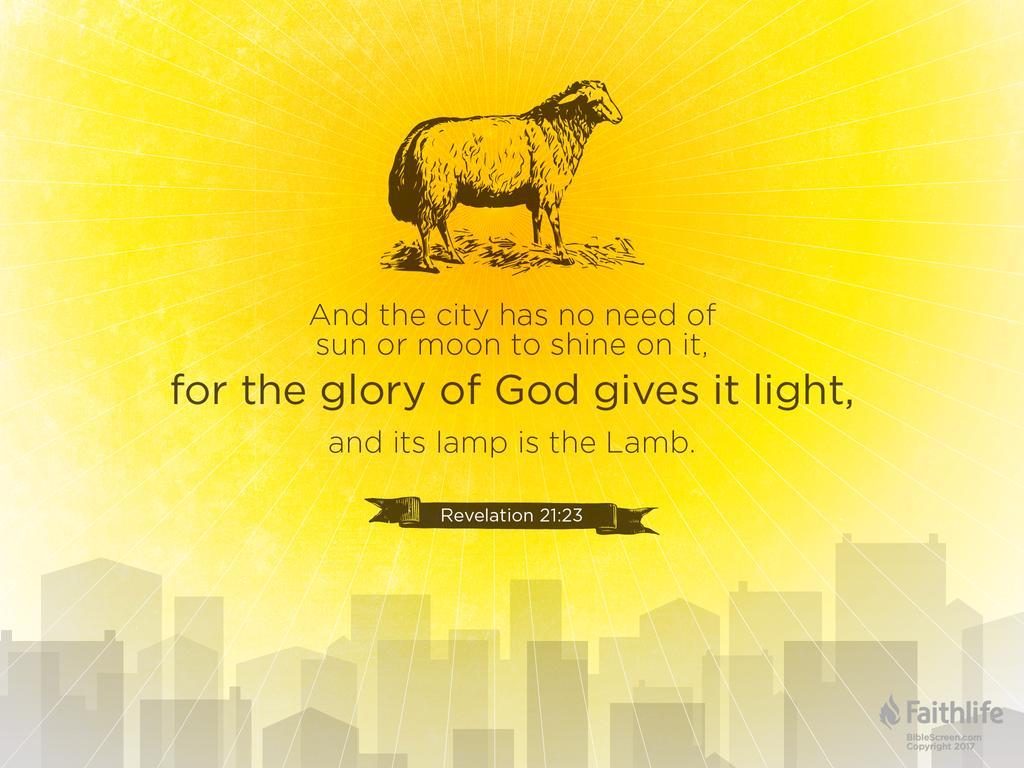 Bildresultat för revelation 21:23