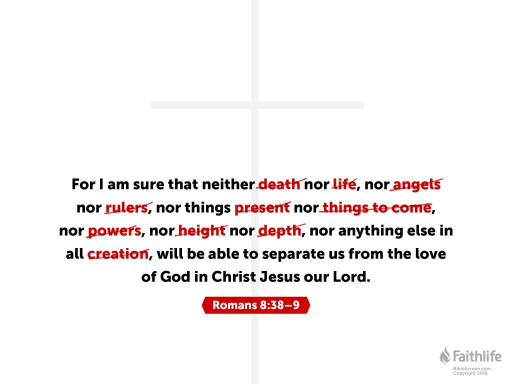 Romans 8:38 NKJV - For I am persuaded that… | Biblia