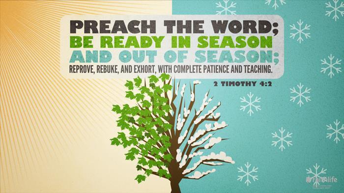 2 Timothy 4:2 (NKJV) - 2 Timothy 4:2 NKJV - Preach the word! Be… | Biblia