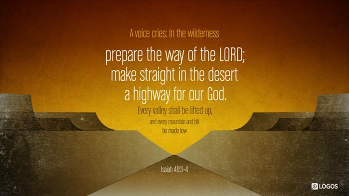 Isaiah 40 3 Esv A Voice Cries In Biblia