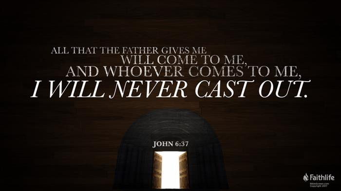 "John 6:37–40 (NASB95) - John 6:37–40 NASB95 - ""All that the"