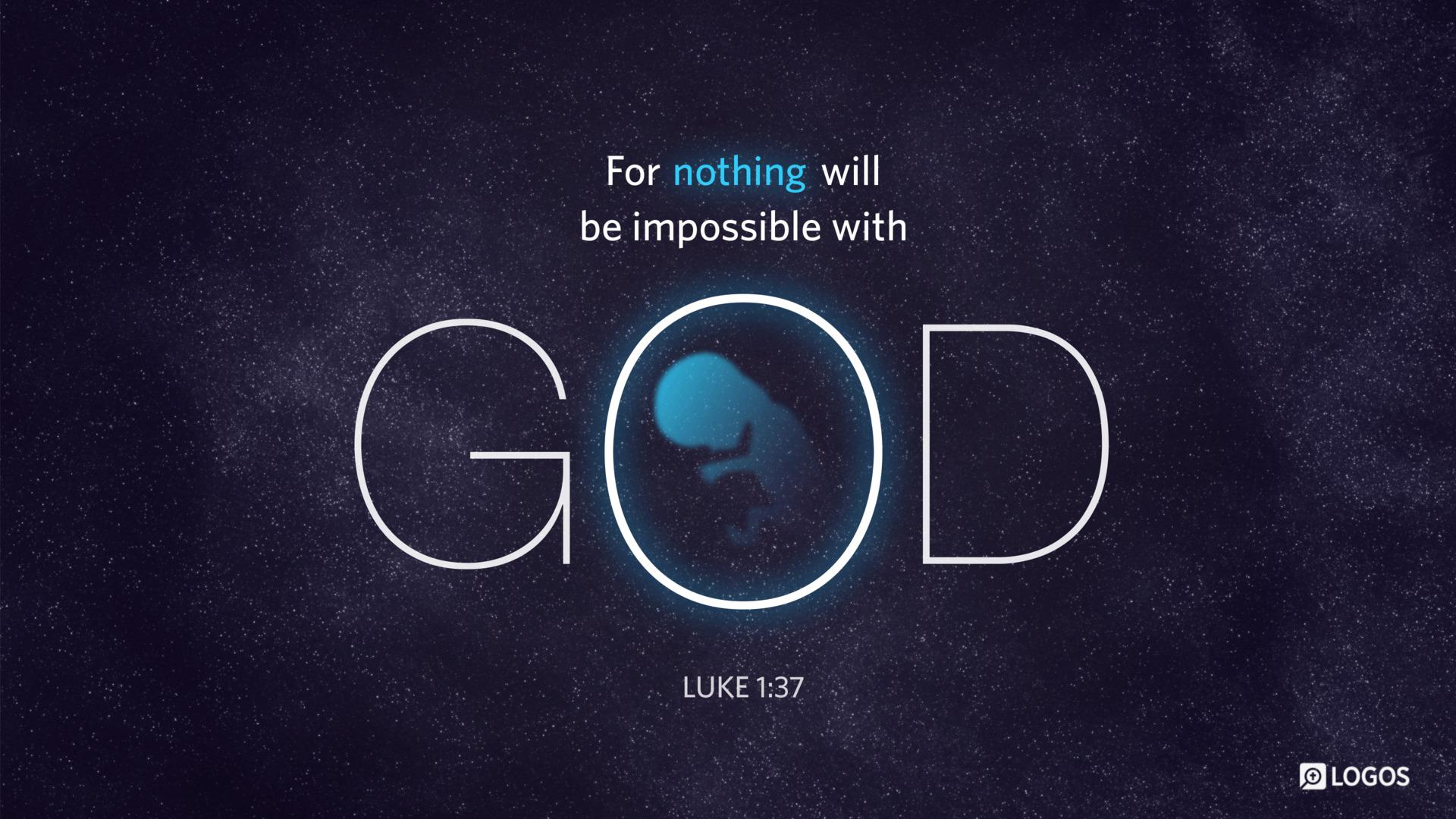 Luke 1:37 | re-Ver(sing) Verses