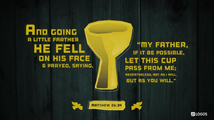 Matthew 26:39 ESV - And going a little…   Biblia