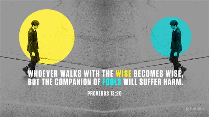 Proverbs 13:20 ASV 1901 - Walk with wise men,… | Biblia